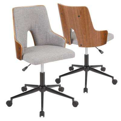 Stella Walnut and Grey Office Chair