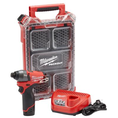 Milwaukee M12 FUEL Hex Impact Driver Kit with Free PACKOUT Case