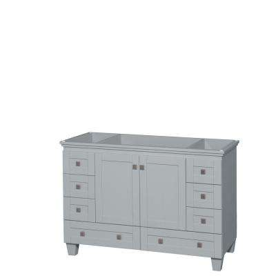 Acclaim 48 in. Vanity Cabinet in Oyster Gray