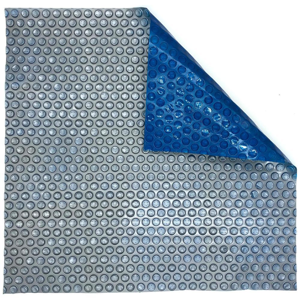 12-ft. x 24-ft. Rectangular 14 mil Blue Silver In-Ground Solar Pool Blanket