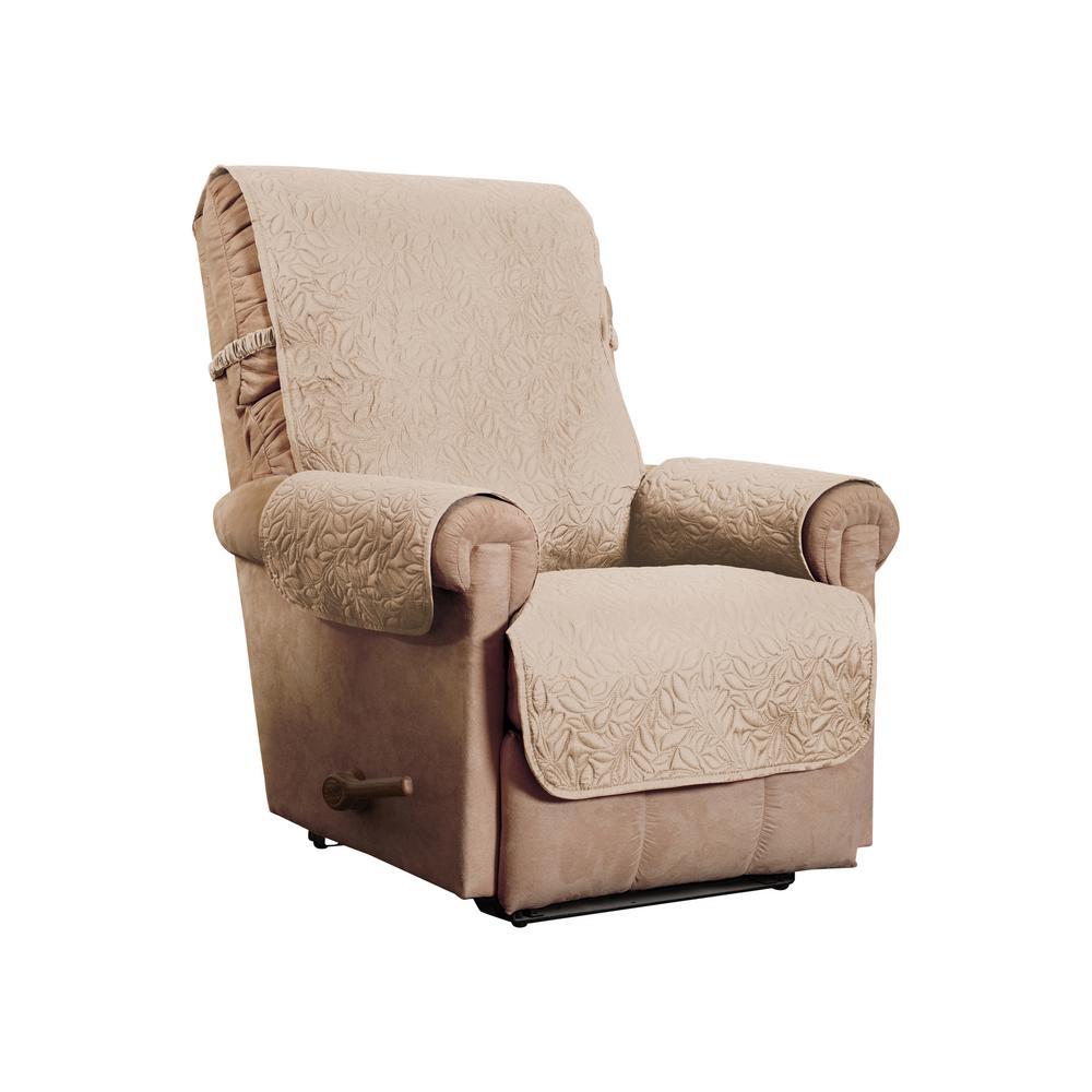 Belmont Leaf Secure Fit Recliner Natural Furniture Cover Slipcover