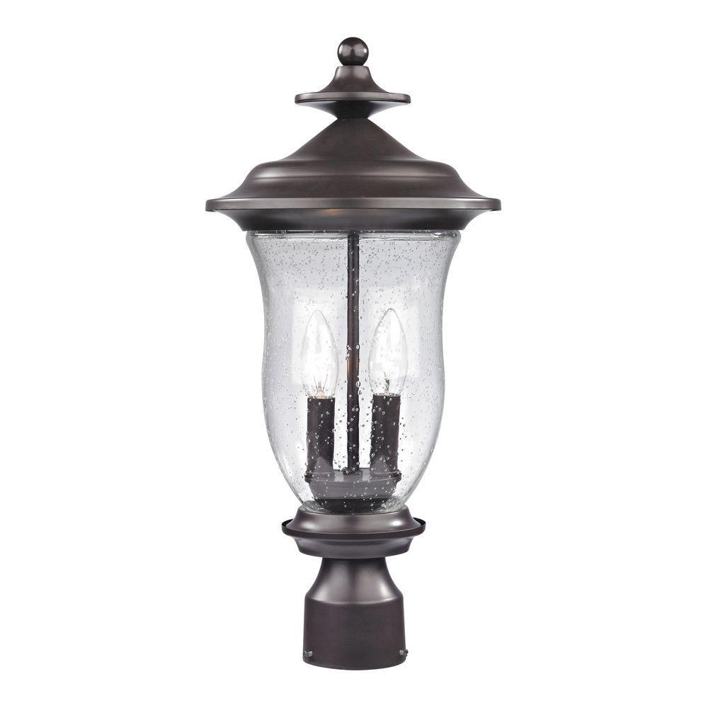 Trinity 2-Light Outdoor Oil Rubbed Bronze Post Lantern