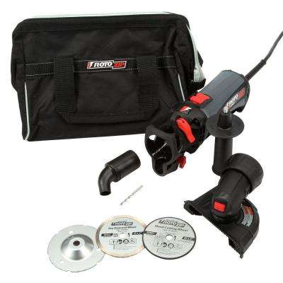 RotoSaw+ 6 Amp Corded Variable Speed Spiral Saw Kit with 11 Accessories and a Carrying Case