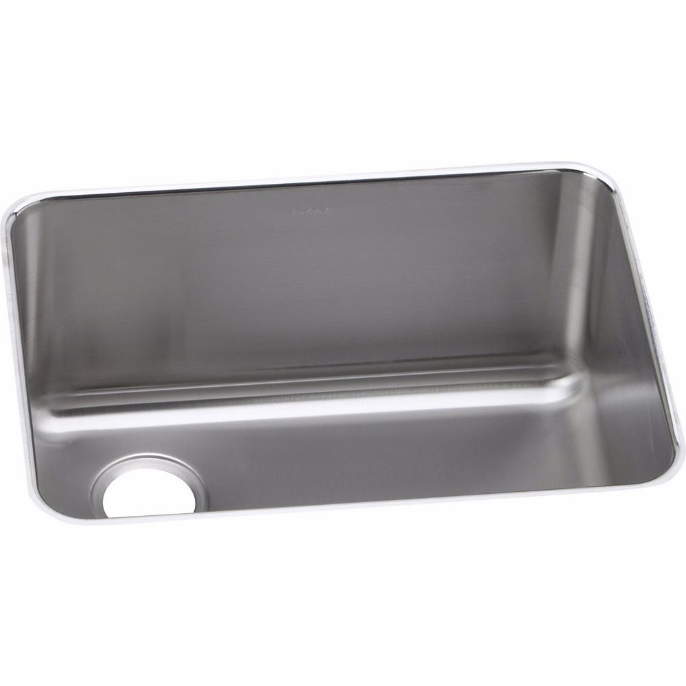 Elkay Lustertone Undermount Stainless Steel 26 In. Single Bowl Kitchen Sink ELUH231710L    The Home Depot