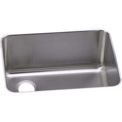 Lustertone Undermount Stainless Steel 26 in. Single Bowl Kitchen Sink
