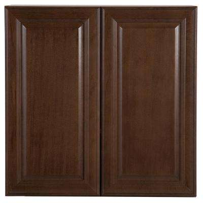 Benton Assembled 30x30x12.62 in. Wall Cabinet in Butterscotch