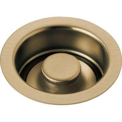 4-1/2 in. Kitchen Sink Disposal and Flange Stopper in Champagne Bronze