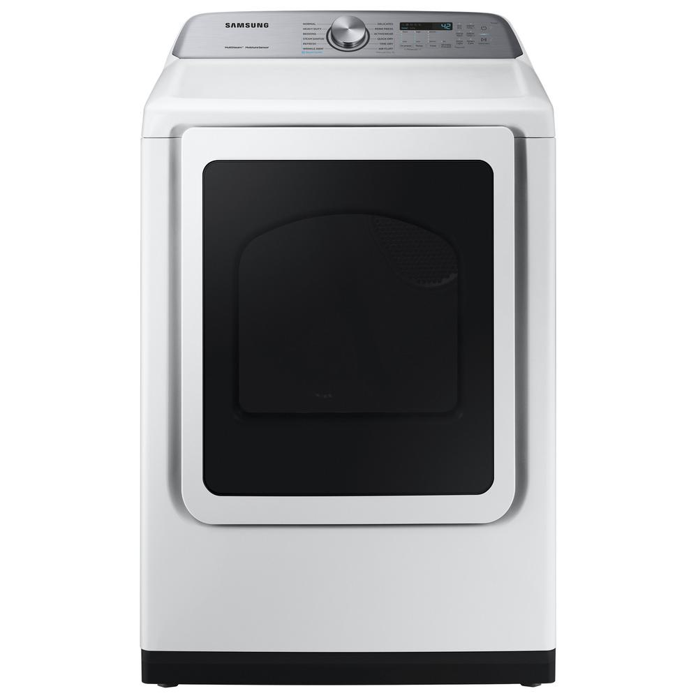 7.4 cu. ft. White Electric Dryer with Steam Sanitize+