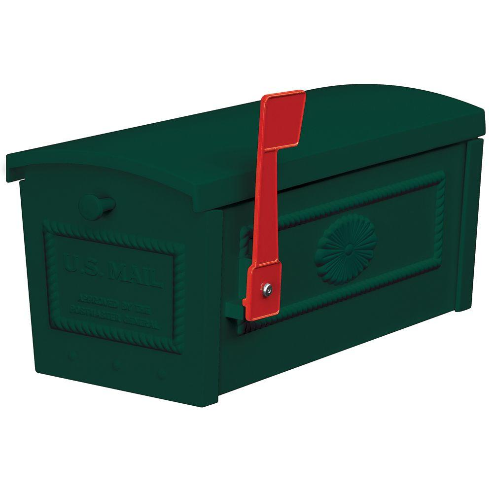 4500 Series Post Style Townhouse Mailbox in Green