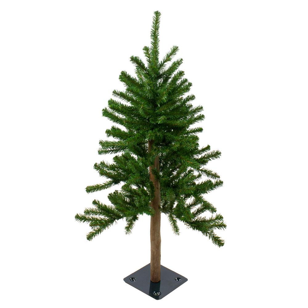 Northcape 3 ft. Pre-Lit Alpine Artificial Christmas Tree ...