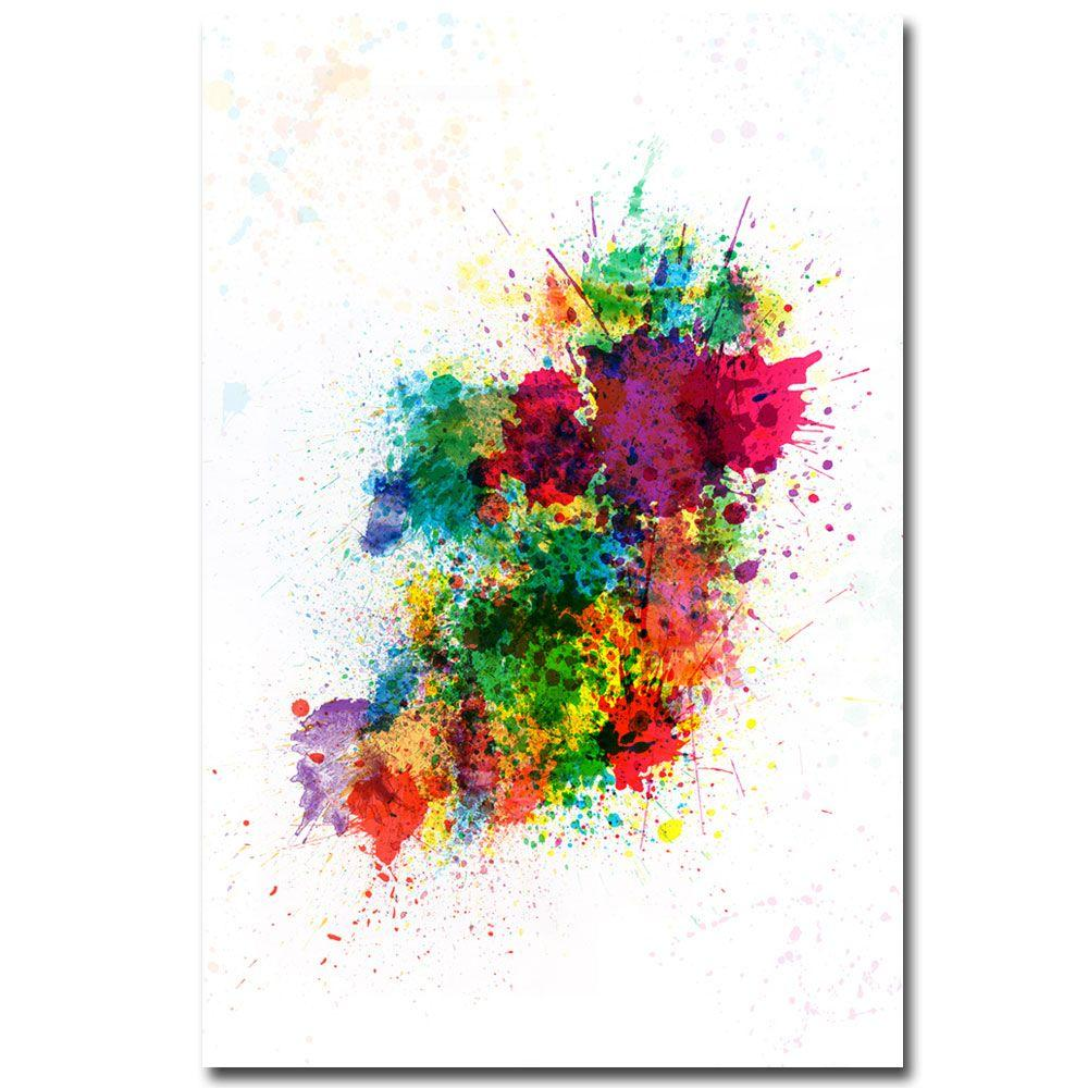 30 in. x 47 in. Ireland Paint Splashes Canvas Art