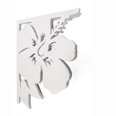 Decorative 16 in. Paintable PVC Hibiscus Mailbox or Porch Bracket