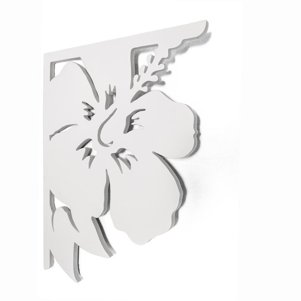 Decorative 16 in. PVC Hibiscus Mailbox or Porch Bracket