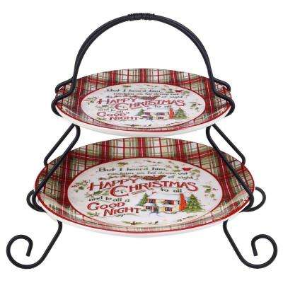 The Night Before Christmas Collection 2-Tier Multi-Colored Stand