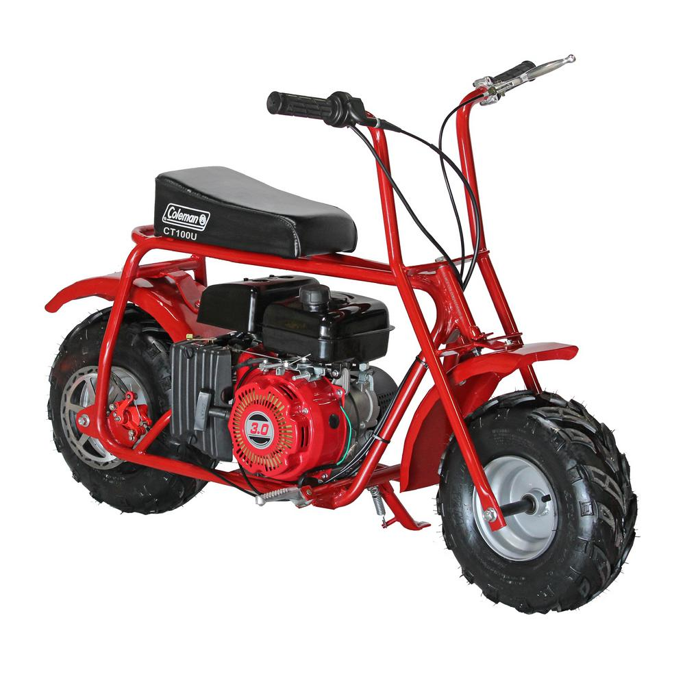 coleman 100 cc mini trail bike ct100 the home depot. Black Bedroom Furniture Sets. Home Design Ideas
