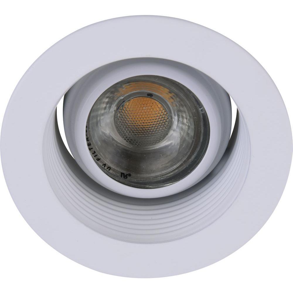 Elegant Lighting 3 In Matte White Recessed 35 Degree