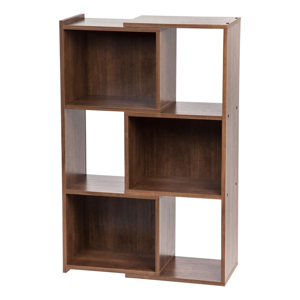 IRIS 30 In. Wide Dark Brown Expandable Bookcase-596060
