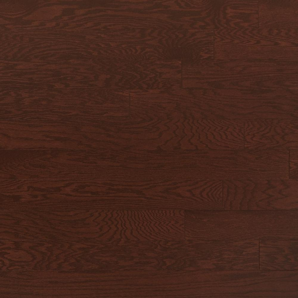Heritage Mill Take Home Sample Oak Merlot Engineered Click Hardwood Flooring 5 In. X 7 In.