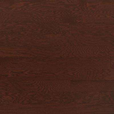 Take Home Sample - Oak Merlot Engineered Click Hardwood Flooring - 5 in. x 7 in.