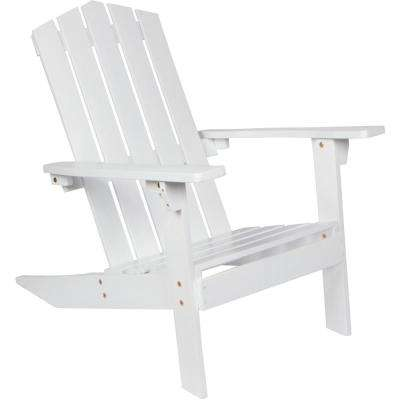 28.5 in. Acacia Wood Adirondack Chair