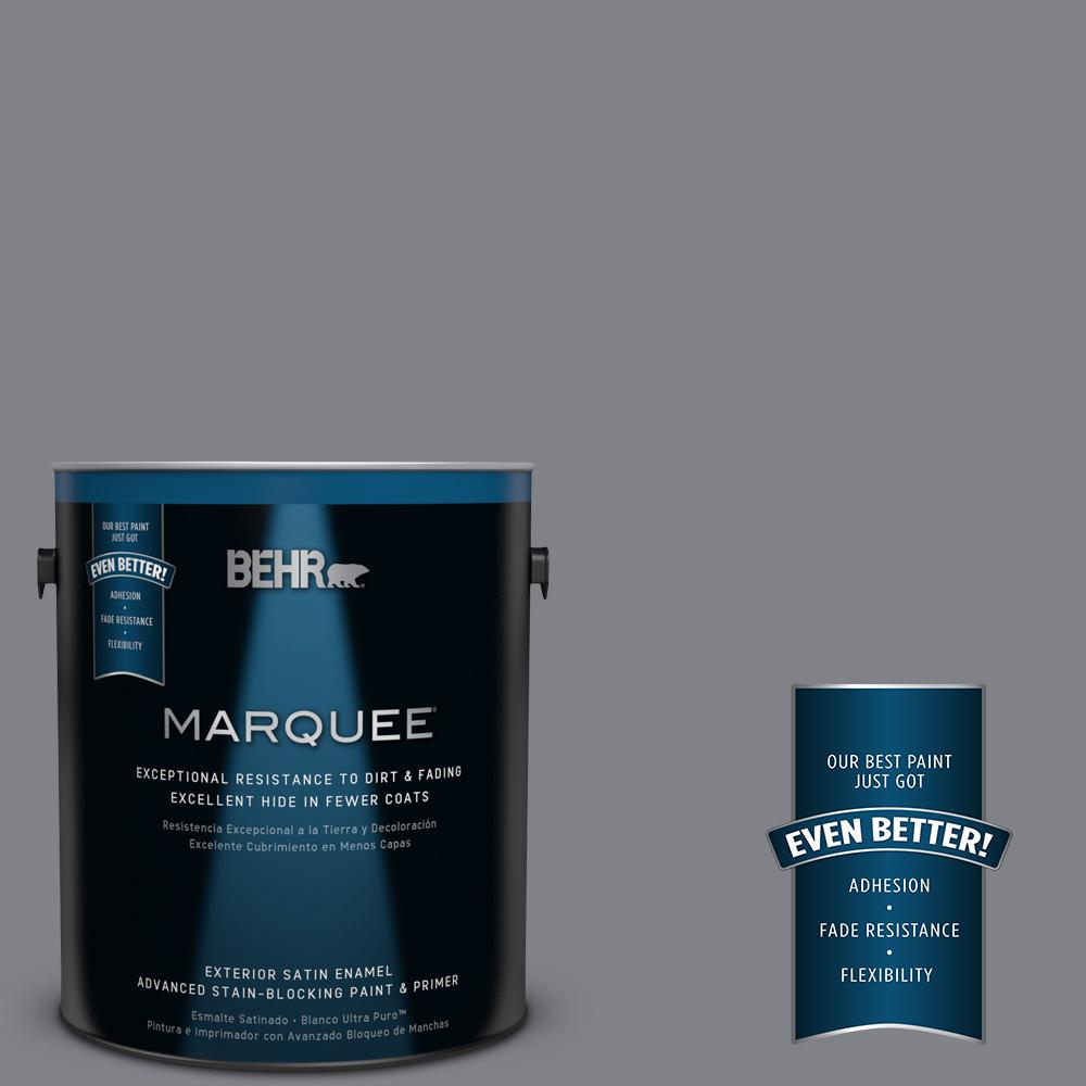 BEHR MARQUEE 1-gal. #N530-5 Mission Control Satin Enamel Exterior Paint