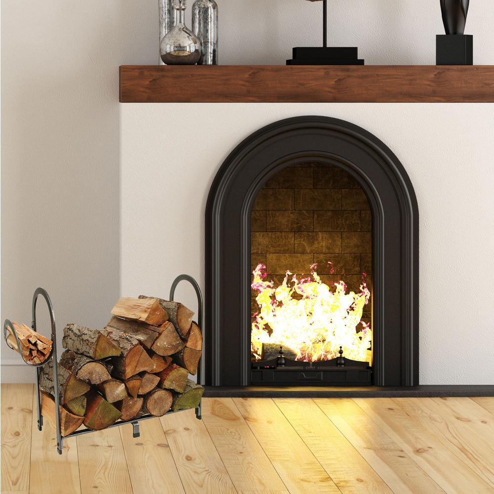 Hammered Steel Enclume Large Rectangular Log Rack Home & Kitchen ...
