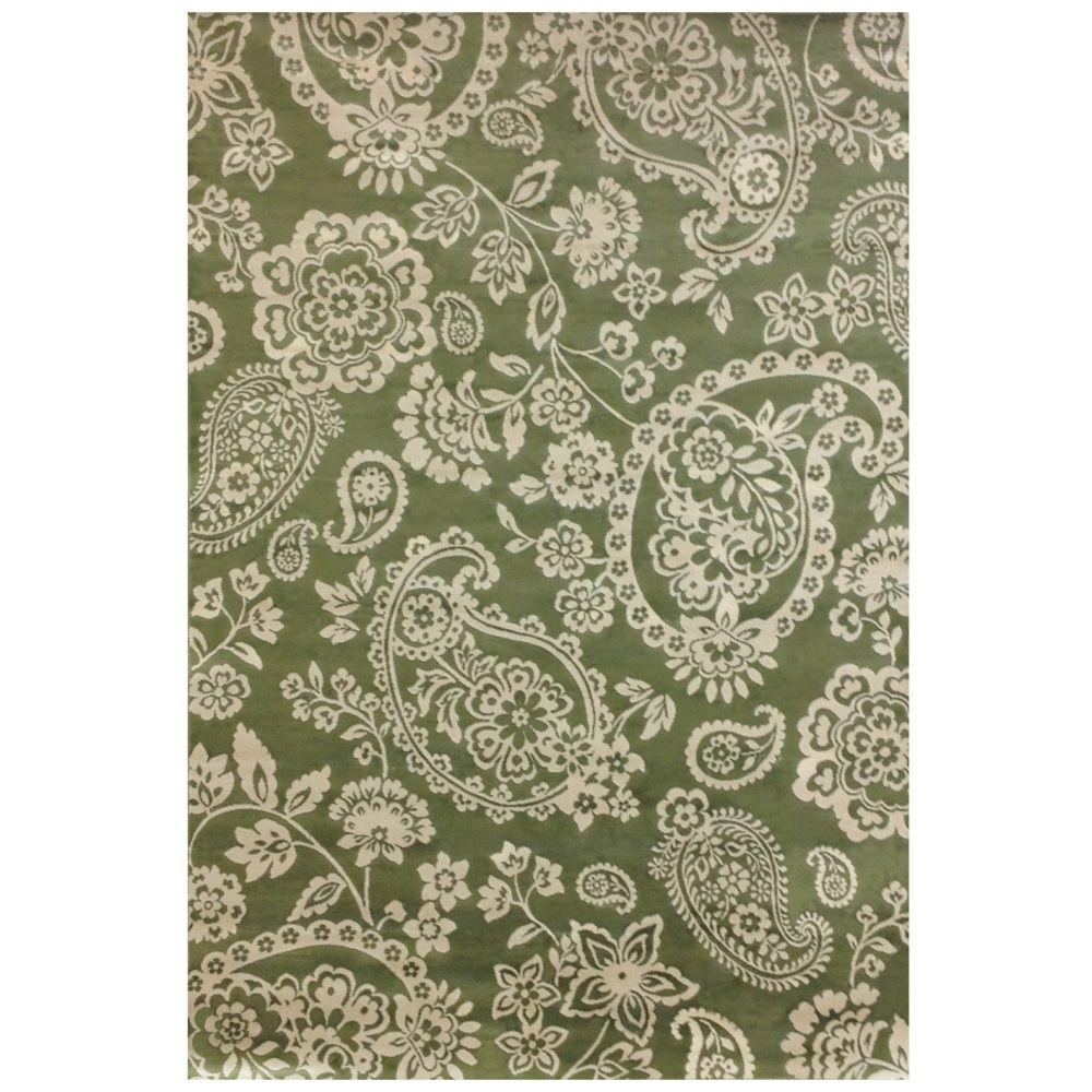 Sams International Sonoma Hinsley Green 5 ft. 3 in. x 7 ft. 6 in. Area Rug