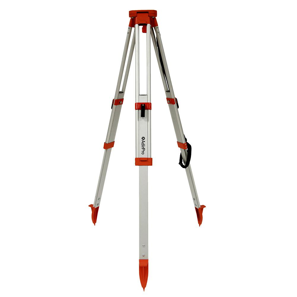 Heavy Duty 5/8 in. 11-Threaded Flat Head Aluminum Orange Tripod with