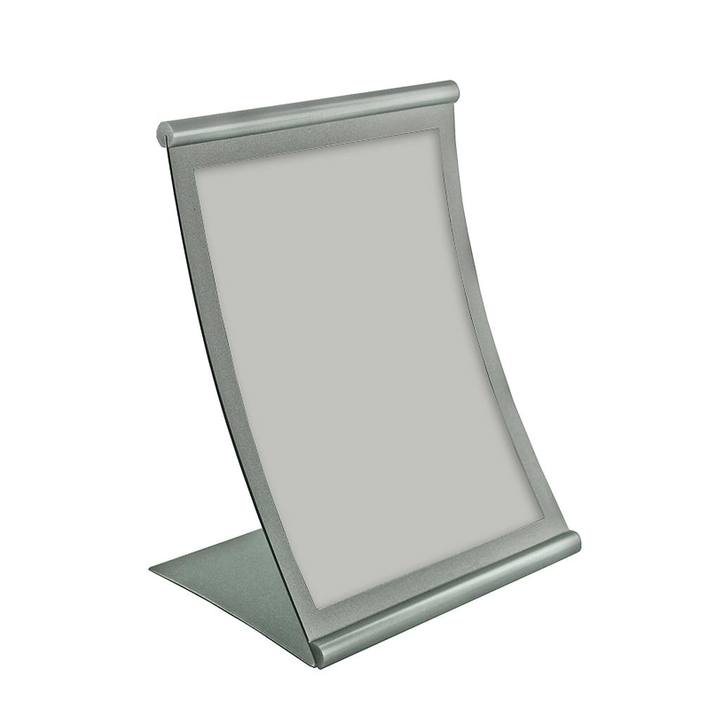 Azar Displays 85 In X 11 In Curved Metal Counter Sign Holder