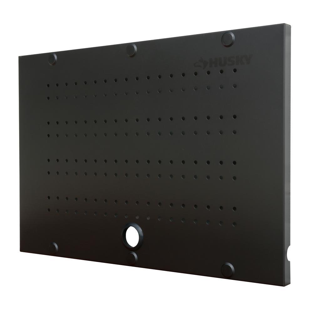 Husky 24 in. W x 16 in. H Steel Pegboard Set in Black (2-Pack)