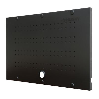 24 in. W x 16 in. H Steel Pegboard Set in Black (2-Pack)
