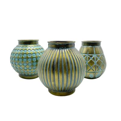 5.11 in H 3-Piece Decorative Glass Vase Bottles Set by Handcrafted 4 Home