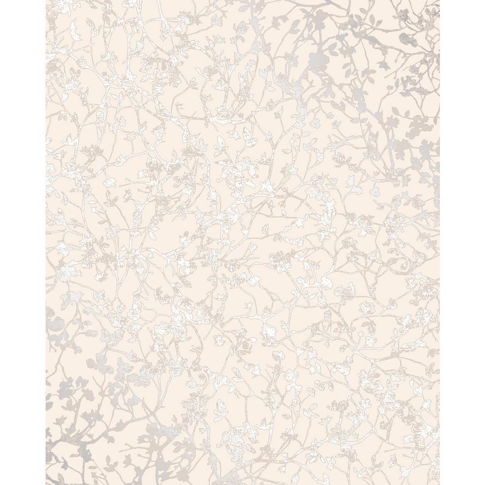 Palatine Cream Leaves Wallpaper Sample