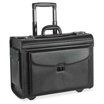 16 in. Vinyl Carrying Case for Notebook, Black