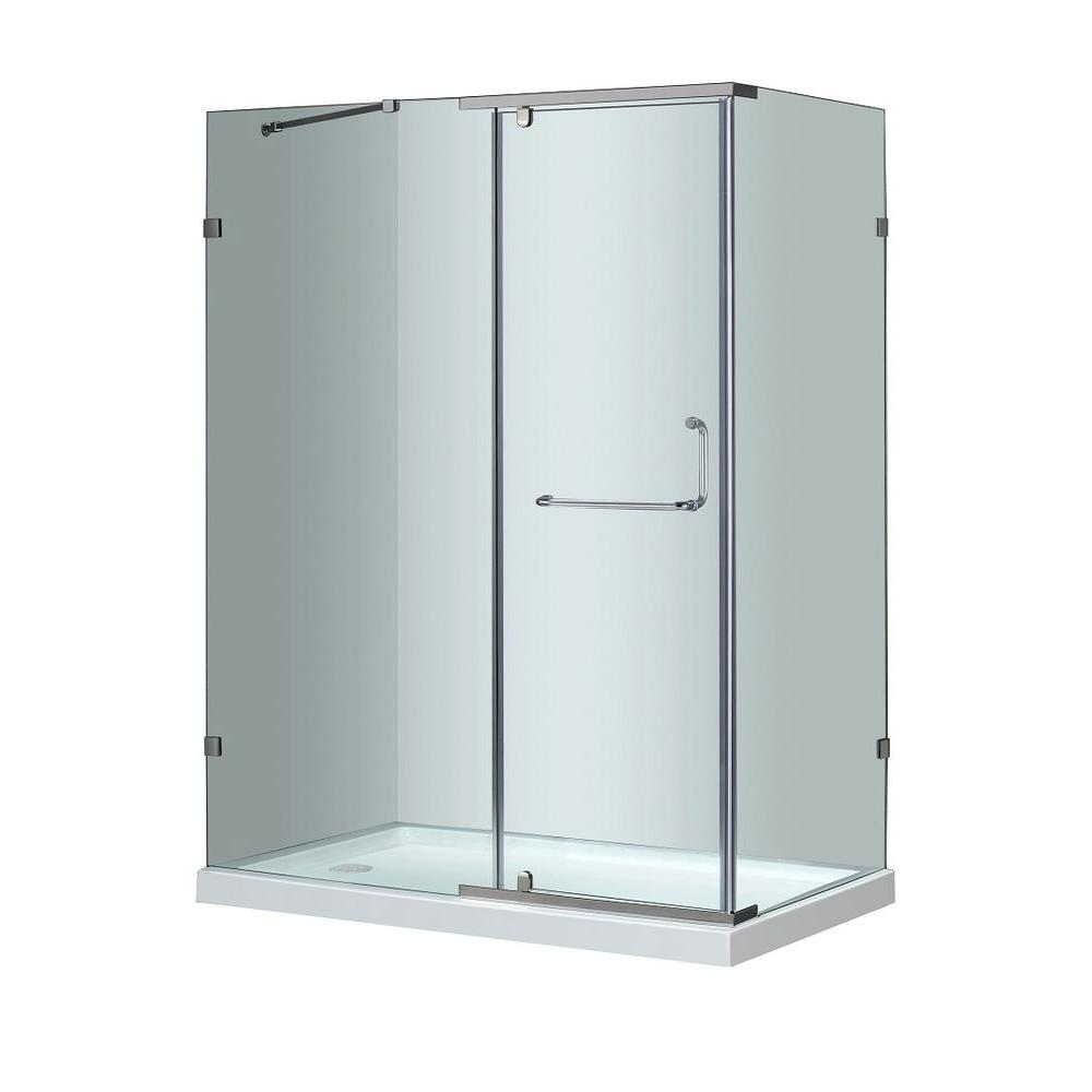 Aston SEN975 60 in. x 35 in. x 77-1/2 in. Semi-Frameless Shower ...