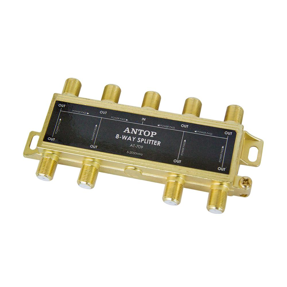 8-Way 2GHz 5-2050MHz Low Loss RF Splitter for TV Satellite Cable
