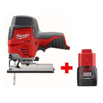 M12 12-Volt Lithium-Ion Cordless Jig Saw W/ Free M12 2.0Ah Battery