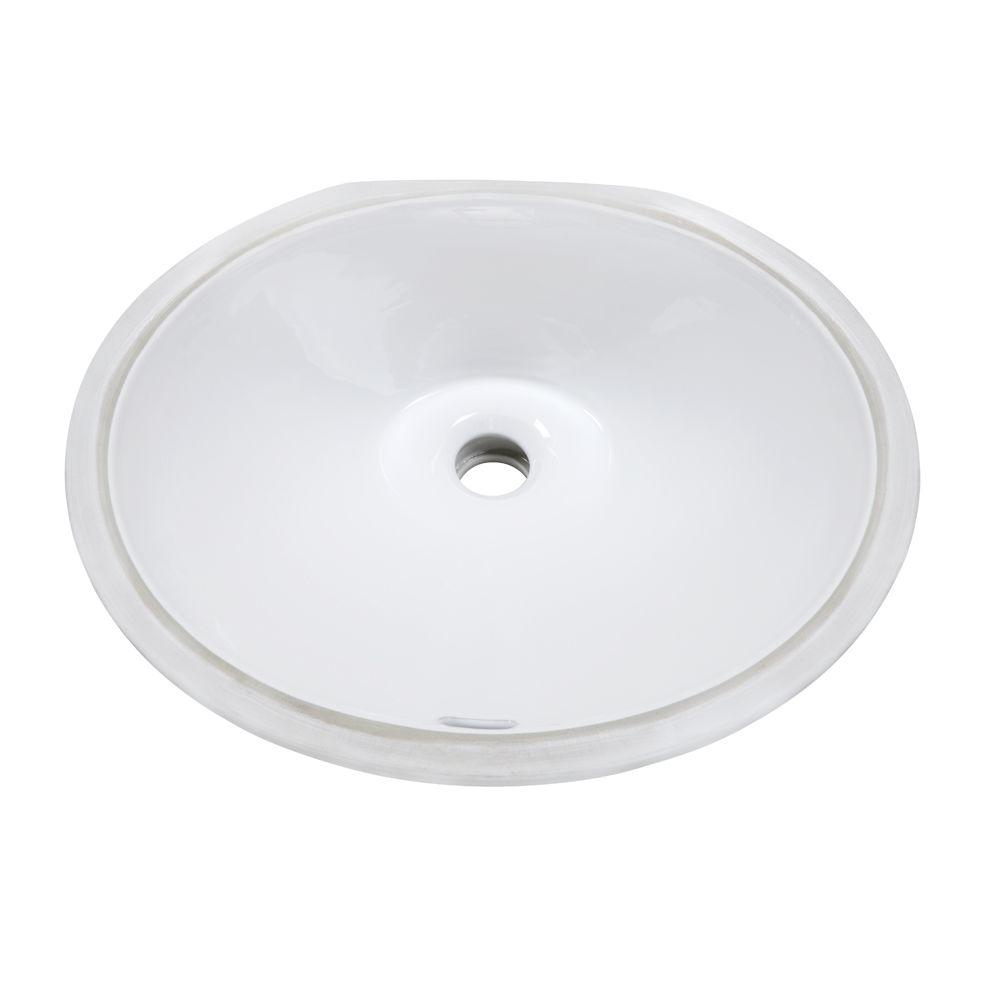 DECOLAV Classically Redefined Oval Undermount Bathroom Sink in White
