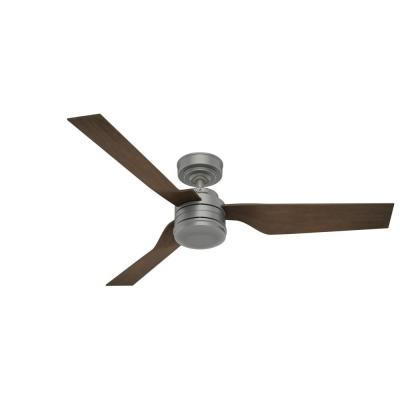 Holcomb 52 in. Indoor/Outdoor Matte Silver Ceiling Fan with Wall Control