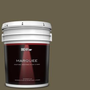 Behr Marquee 5 Gal N340 7 Kilimanjaro Flat Exterior Paint Primer 445305 The Home Depot