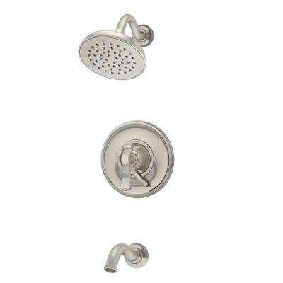 Winslet 1-Handle Wall-Mount Tub/Shower Trim Kit in Satin Nickel (Valve Not Included)