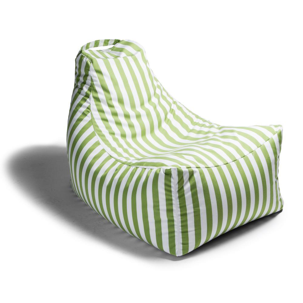Ja Juniper Lime Stripes Outdoor Bean Bag Patio Lawn Chair