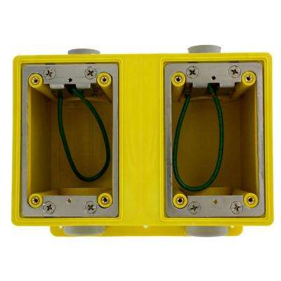 2-Gang Industrial Grade FD Box with 67.3 cu. in. Capacity, Yellow