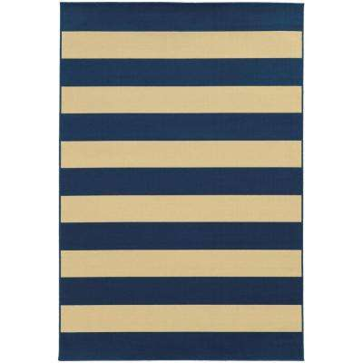 Nantucket Navy 9 ft. x 13 ft. Area Rug