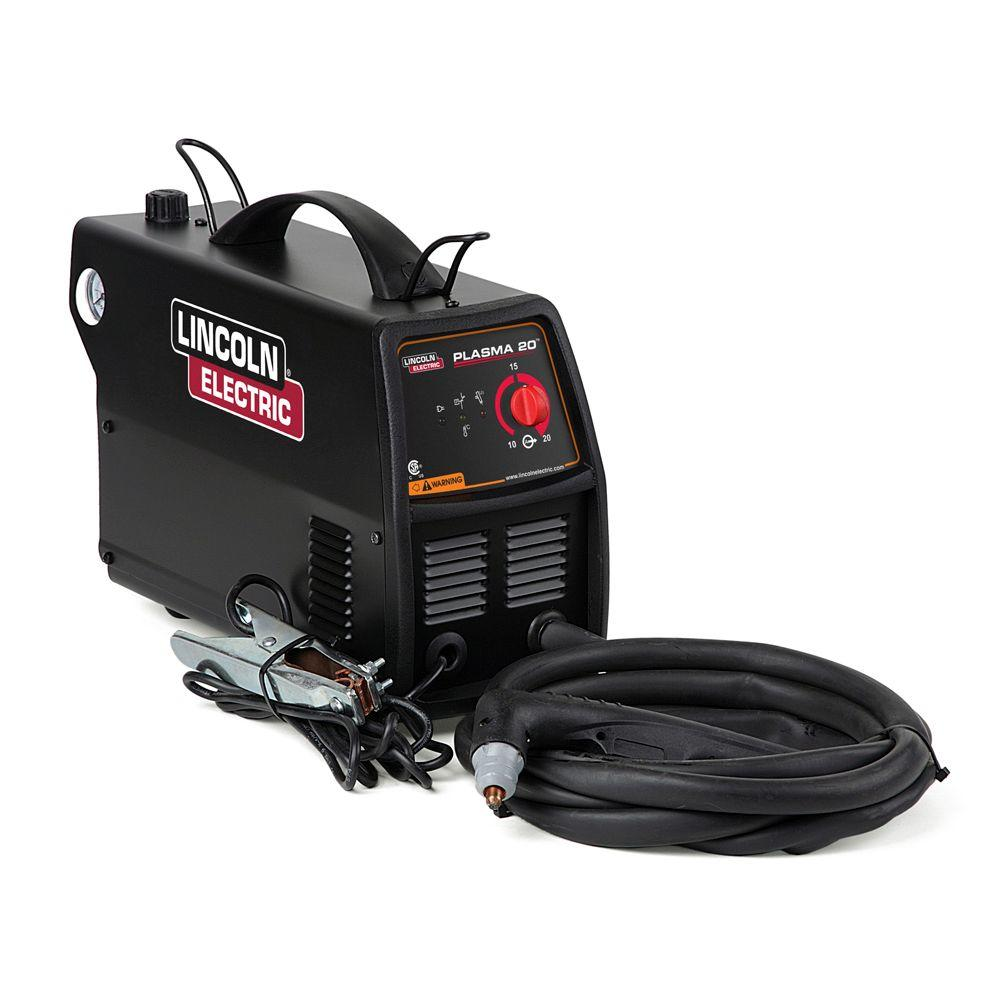 Lincoln Electric 115-Volt 20 Amp P20 Single Phase Plasma Cutter for Cutting up to 1/4 in. Steel, 9-1/2 ft. Torch Reach and 8 ft. Ground