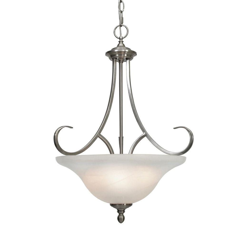 Golden Lighting Lancaster Collection 3-Light Pewter
