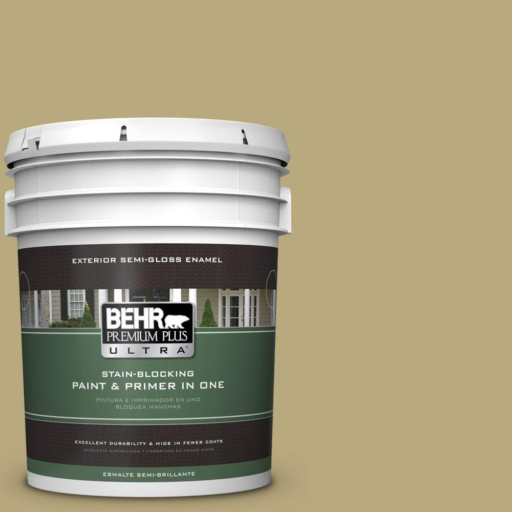 BEHR Premium Plus Ultra 5-gal. #M330-5 Fresh Brew Semi-Gloss Enamel Exterior Paint
