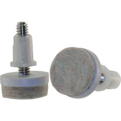 1-1/2 in. Threaded Stem Furniture Glides with Felt Base (4 per Pack)