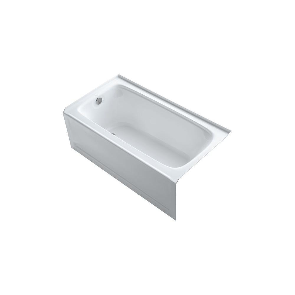 Kohler Left Drain Rectangular Alcove Bathtub 1701