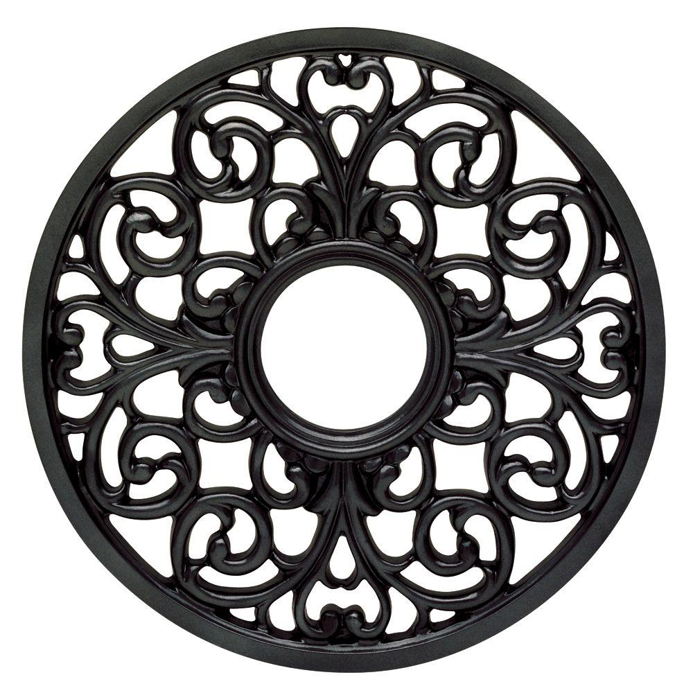 Westinghouse 16 in. Iron Finish Round Parisian Scroll Ceiling Medallion-DISCONTINUED